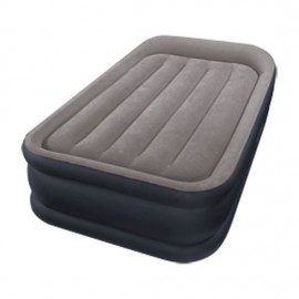 Intex Deluxe Pillow Rest Airbed Twin 2-persoons Luchtbed 203x152x42 cm Grijs