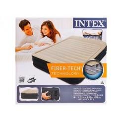 Intex 64404 Premium Fiber-Tech Queen Size Luchtbed + Ingebouwde Pomp 152x203x33cm