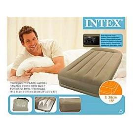Intex 67742 Rising Comfort Pillow Rest Twin Size Luchtbed met Ingebouwde Pomp 99x191x38cm