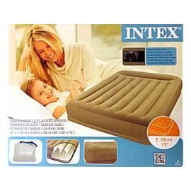 Intex 67748 Rising Comfort Pillow Rest Queen Size Luchtbed met Ingebouwde Pomp 152x203x38cm