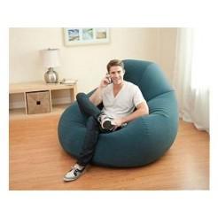 Intex 68583NP Opblaasbare DeLuxe Beanless Bag Stoel Blauw 122x127x81cm